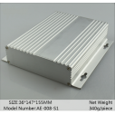 Caja  Aluminum extrusion enclosure for electronics