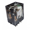 Relé 2 contactos 24Vcc con indicación luminosa