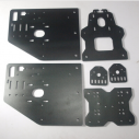 OX CNC machine parts black