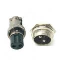 Conector 2 Pin Macho & Hembra Diámetro 16 mm panel conector GX16 Soc conector circular