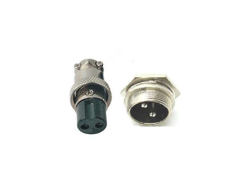 2 Pin Macho & Hembra Diámetro 16 mm de cable de panel conector GX16 Soc conector circular
